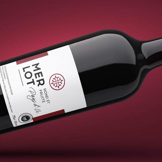 Concept vins cépages pour U merlot