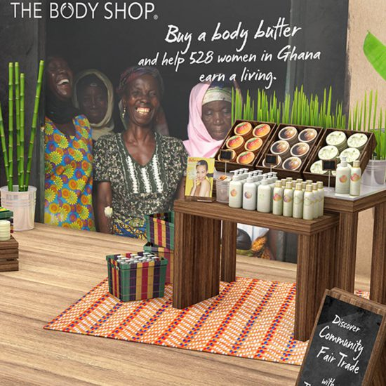 Body shop, animations des points de vente par Jessica Larrieu