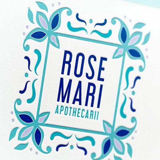 rosemari apothecarii, logo du select store créé par Jessica Larrieu