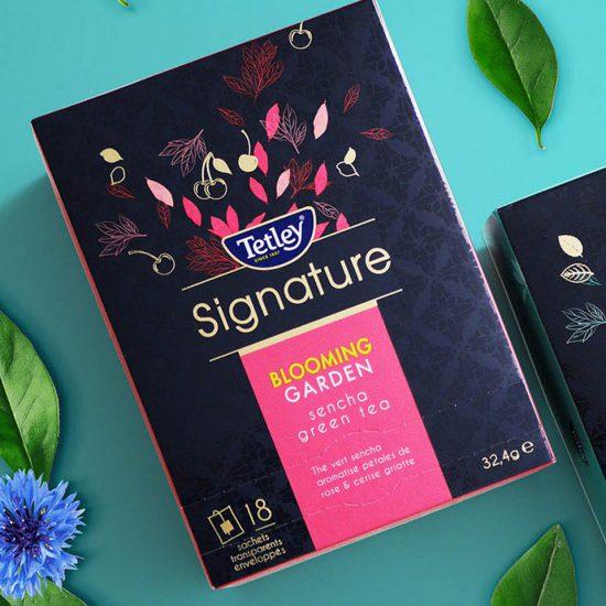 Tetley Signature : Identité visuelle, com' et gamme produits premium